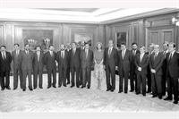26/07/1986. 11Third Legislature (1). Cabinet from July 1986 to July 1988. The new government, together with the King and Queen, after the Vi...