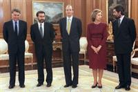 25/11/1993. 17 Fifth Legislature (2). Cabinet from November 1993 to May 1994. The new Minister for Home Affairs, Antoni Asunción (second fro...