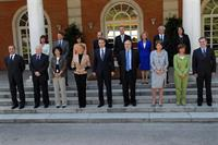 1/06/2007. 35Eighth Legislature (4). Group photo of the government of José Luis Rodríguez Zapatero following the cabinet reshuffle of two mi...