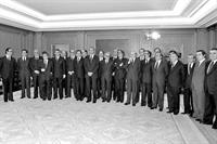 6/04/1979. 3 First Legislature (1). Cabinet from April 1979 to January 1980. First constitutional government poses together with the King.