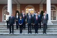 23/12/2011. 45Tenth Legislature (6). The new members of the cabinet of Mariano Rajoy pose on the steps of the Council of Ministers building ...