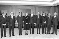 26/02/1981. 6 First Legislature (4). Cabinet February 1981 to September 1981. Leopoldo Calvo Sotelo after sworn in as President of the Government.
