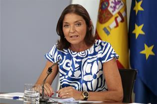 Reyes Maroto durante su comparecencia en la rueda de prensa posterior al Consejo de Ministros