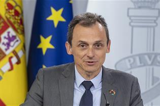 Pedro Duque durante la rueda de prensa posterior al Consejo de Ministros