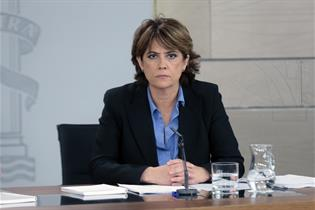 Dolores Delgado durante la rueda de prensa posterior al Consejo de Ministros