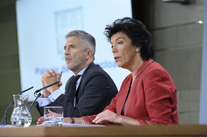 13/09/2019. Consejo de Ministros: Celaá y Marlaska. La ministra de Educación y Formación Profesional y portavoz del Gobierno en funciones, I...