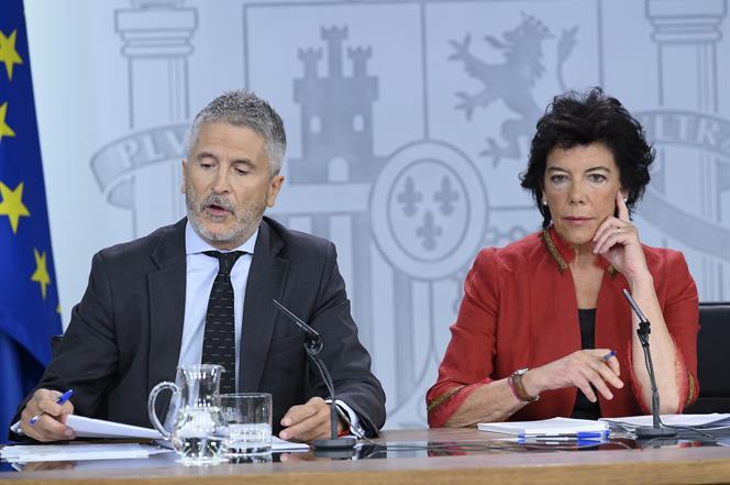 13/09/2019. Consejo de Ministros: Celaá y Marlaska. El ministro de Interior en funciones, Fernando Grande Marlaska, junto a la ministra de E...