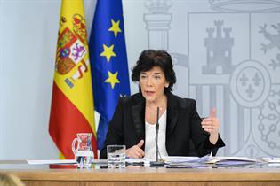 Isabel Celaá en la rueda de prensa posterior al Consejo de Ministros