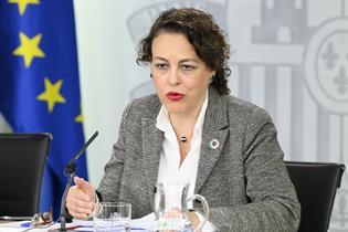 Magdalena Valerio en la rueda de prensa posterior al Consejo de Ministros