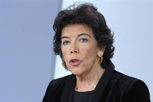 Isabel Celaá durante la rueda de prensa posterior al Consejo de Ministros