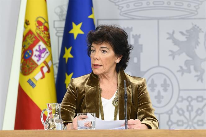 29/11/2019. Consejo de Ministros: Celaá. La ministra de Educación y Formación Profesional y portavoz del Gobierno en funciones, Isabel Celaá...