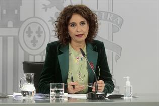 La ministra de Hacienda y portavoz del Gobierno, María Jesús Montero, durante la rueda de prensa