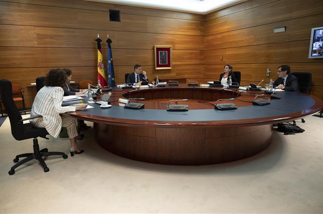 2/06/2020. Consejo de Ministros. El jefe del Ejecutivo, Pedro Sánchez, preside la reunión del Consejo de Ministros.