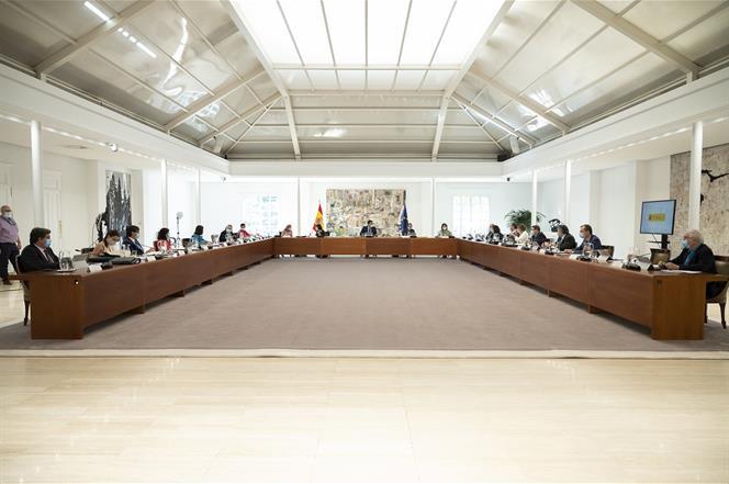3/07/2020. Reunión del Consejo de Ministros: 3 de julio de 2020. El presidente del Gobierno, Pedro Sánchez, preside la reunión extrordinaria...