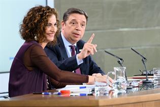 María Jesús Montero y Luis Planas durante la rueda de prensa posterior al Consejo de Ministros