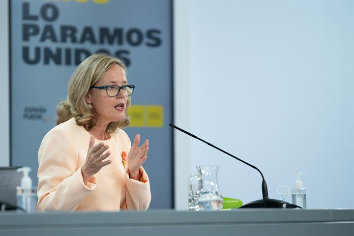 La ministra de Asuntos Económicosy Transformación Digital, Nadia Calviño
