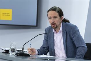 Pablo Iglesias durante la rueda de prensa posterior al Consejo de Ministros