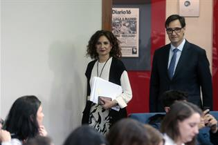 María Jesús Montero y Salvador Illa