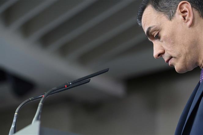 14/01/2020. Consejo de Ministros: Sánchez. El presidente del Gobierno, Pedro Sánchez, en un momento de su comparecencia ante los medios de c...