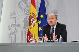 Juan Carlos Campo durante la rueda de prensa posterior al Consejo de Ministros