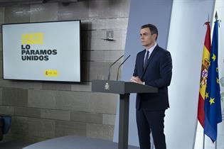 El presidente del Gobierno, Pedro Sánchez, durante su comparecencia tras el Consejo de Ministros