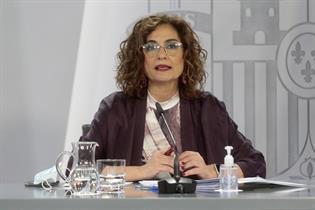 María Jesús Montero durante su intervención