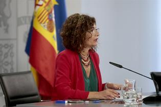 María Jesús Montero durante la rueda de prensa posterior al Consejo de Ministros