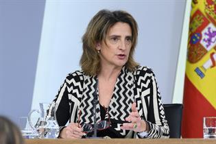 Teresa Ribera durante la rueda de prensa posterior al Consejo de Ministros