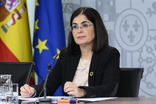 Carolina Darias durante su intervención en la rueda de prensa posterior al Consejo de Ministros