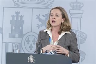 Nadia Calviño durante la rueda de prensa posterior al Consejo de Ministros