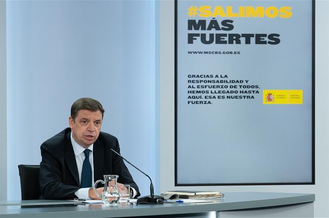 21/07/2020. Consejo de Ministros: Luis Planas. El ministro de Agricultura, Pesca y Alimentación, Luis Planas, durante su intervención en la ...