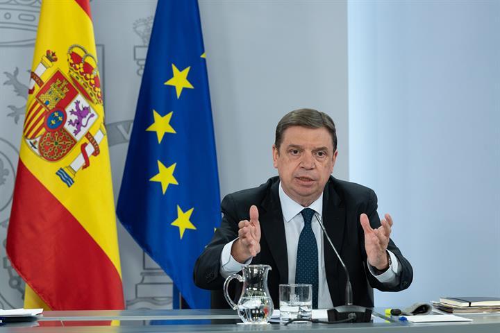 Luis Planas durante la rueda de prensa posterior al Consejo de Ministros