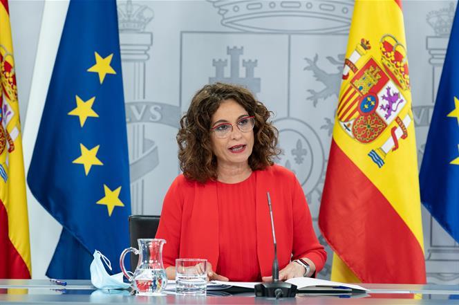 21/07/2020. Consejo de Ministros: María Jesús Montero. La ministra de Hacienda y portavoz del Gobierno, María Jesús Montero, durante su inte...