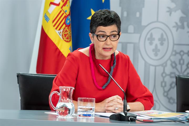 Arancha González Laya durante la rueda de prensa posterior al Consejo de Ministros
