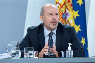 Juan Carlos Campos durante la ruda de prensa posterior al Consejo de Ministros