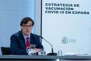 Salvador Illa durante la rueda de prensa posterior al Consejo de Ministros