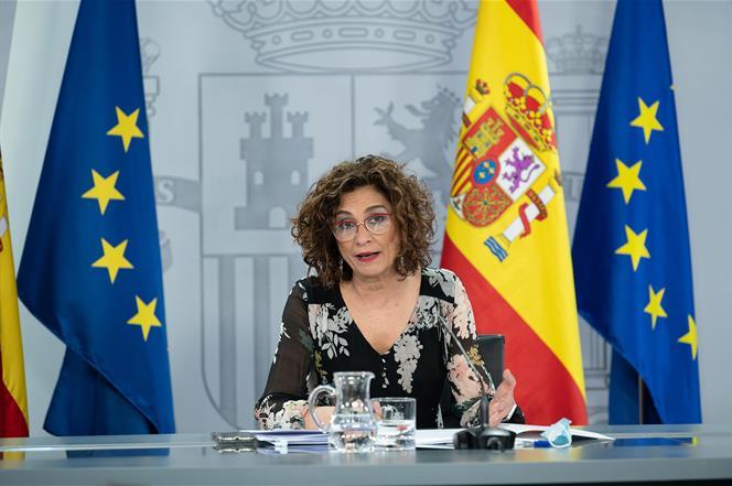 28/07/2020. Consejo de Ministros: Montero, Calviño e Illa. La ministra de Hacienda y portavoz del Gobierno, María Jesús Montero, durante su ...