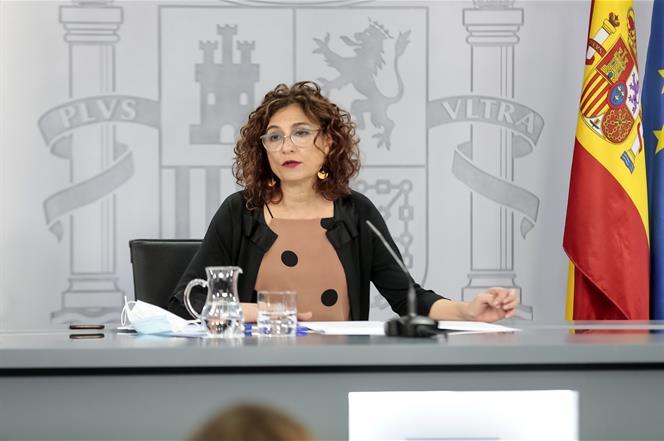 30/06/2020. Consejo de Ministros: Planas, Montero y Duque. La ministra de Hacienda y portavoz del Gobierno, María Jesús Montero, durante la ...