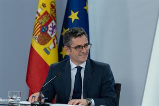 Félix Bolaños durante la rueda de prensa posterior al Consejo de Ministros