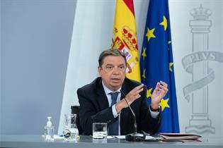 Luis Planas durante su intervención en la rueda de prensa posterior al Consejo de Ministros
