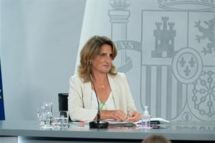 La vicepresidenta tercera y ministra para la Transición Ecológica y el Reto Demográfico, Teresa Ribera