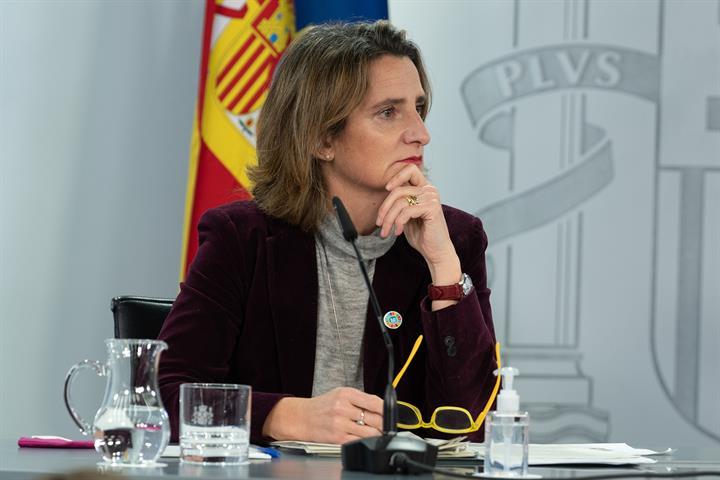 La vicepresidenta cuarta y ministra para la Transición Ecológica y el Reto demográfico, Teresa Ribera