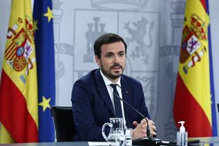 Alberto Garzón durante la rueda de prensa posterior al Consejo de Ministros