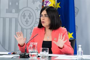 Carolina Darias durante la rueda de prensa posterior al Consejo de Ministros