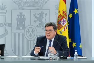 José Luis Escrivá durante su comparecencia