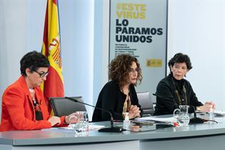 Arancha González Laya, María Jesús Montero e Isabel Celaá