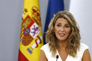 Yolanda Díaz durante la rueda de prensa posterior al Consejo de Ministros