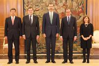 3/12/2014. His Majesty the King of Spain together with the President of the Government, the Vice-President of the Government and Minister fo...