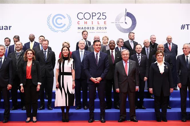 2/12/2019. Sánchez participa en el Diálogo de líderes de la jornada inaugural de la COP25. El presidente del Gobierno en funciones, Pedro Sá...
