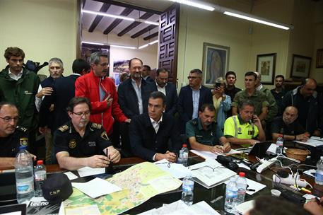 14/09/2019. Pedro Sánchez viaja a Alicante y Murcia para conocer de primera mano los efectos de la gota fría. El presidente del Gobierno en ...